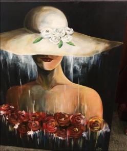 Lady in Hat Canvas Jacek Kolodziejczyk
