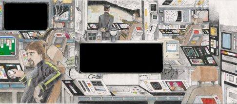 Spaceship Interior Letter by D. Ashton