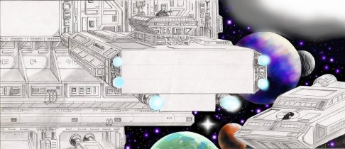 Spaceship Letter by D. Ashton