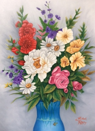 Flowers by Michael Pelletier Oil