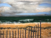 Winter Beach by Maria Buie