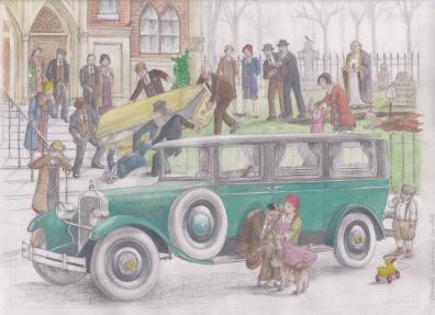 '27 Packard Hearse by D. Ashton
