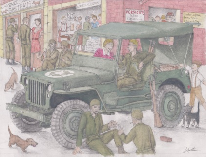 '45 Willy's Jeep by D. Ashton