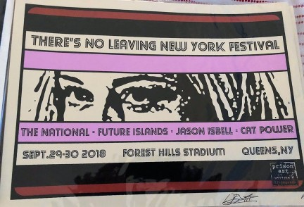 """by W.B. Livingston """"While I am a huge fan of The National and Jason Isbell, my draw to this poster was Cat Power. I am a total fan of hers. This design is based on a painting of mine, Famous Eyes. (Spoiler alert: they are Cybill Shepherd's eyes.)"""""""